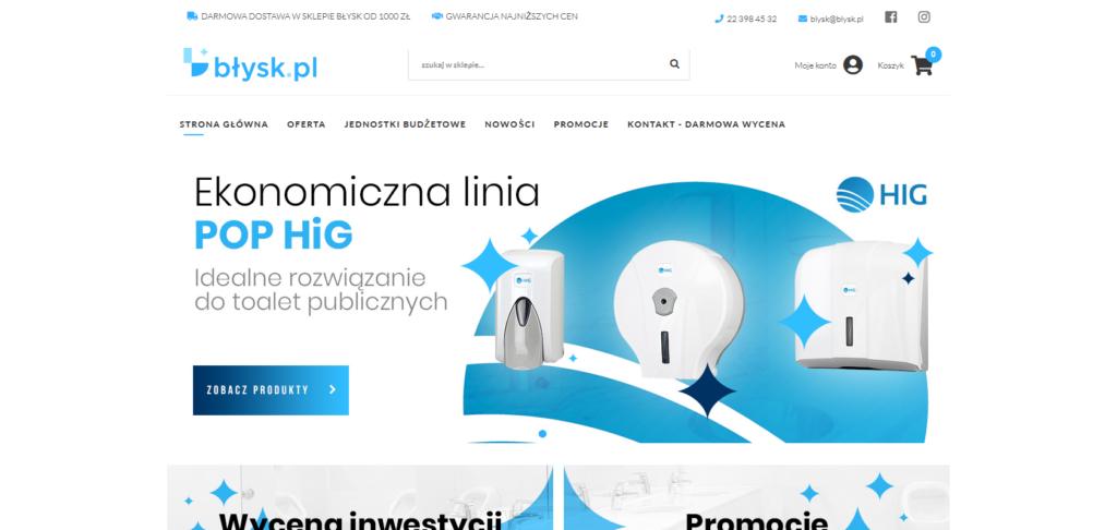 Sklep internetowy Błysk.pl - Shoper, wdrożenie rok 2019